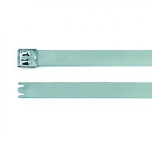 Hellerman, Stainless Steel Cable Tie, 304 Grade, 362mm x 4.6mm, Pack Of 100