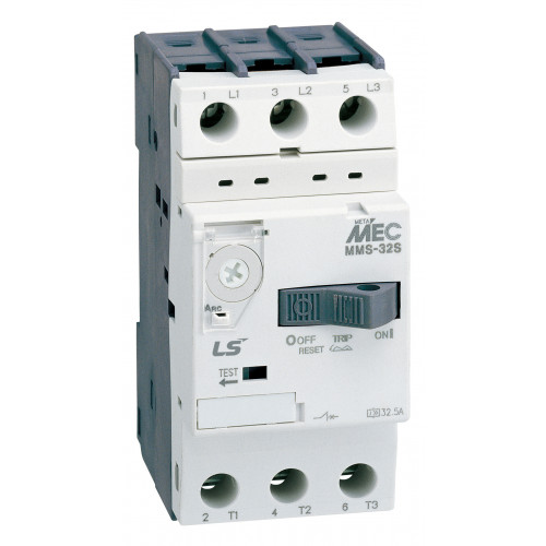 LS ELECTRIC, MMS32S2.5, Thermal Magnetic Circuit Breaker, Toggle Lever, (1.6 - 2.5A Setting Range)