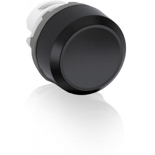 ABB, MP1-10B, Modular, 22mm Ø Mounting, Black Flush Pushbutton, Black Plastic Bezel, Momentary Action.