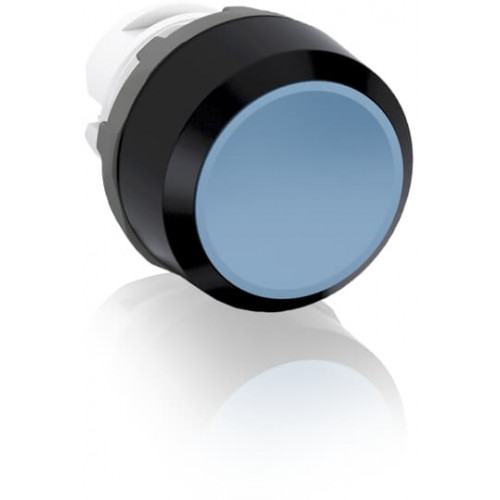 ABB, Modular, 22mm Ø Mounting, Blue Flush Pushbutton, Black Plastic Bezel, Momentary Action.