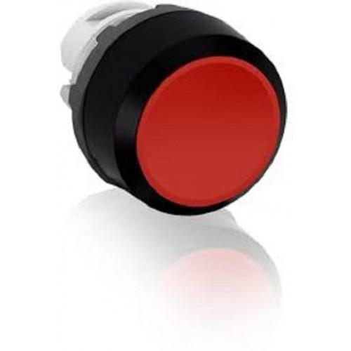 ABB, MP1-10R, Modular, 22mm Ø Mounting, Red Flush Pushbutton, Black Plastic Bezel, Momentary Action.