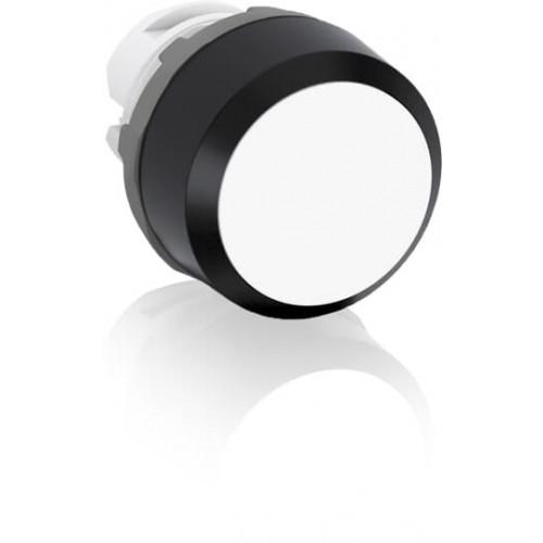 ABB, MP1-10W, Modular, 22mm Ø Mounting, White Flush Pushbutton, Black Plastic Bezel, Momentary Action.