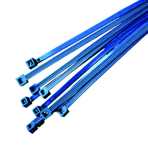 Hellerman, Metal Content Cable Tie, Nylon Polyamide 6.6, Blue, 200mm x 4.6mm