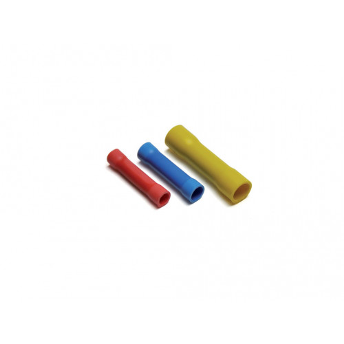 Cembre, PL03-M, PVC Insulated Crimp, Butt Connector, Cable Entry 0.25 - 1.5mm², (RED) Barrel Length 25mm, Pack of 100,