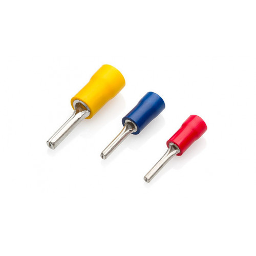 TLA, PVC Insulated Crimp, Red Pin, Cable Entry 0.5 - 1.5mm², Pin Length 10mm, Pack Of 100