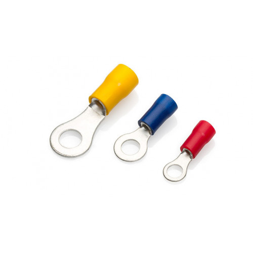 TLA, PVC Insulated Crimp, Yellow Ring, Cable Entry 4.0 - 6.0mm², Stud Ø M4, Pack Of 100,