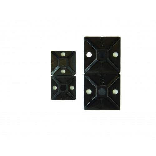 Hellerman, Cable Tie Base, Nylon Polyamide 6.6, Black, 20mm x 20mm, Pack of 100