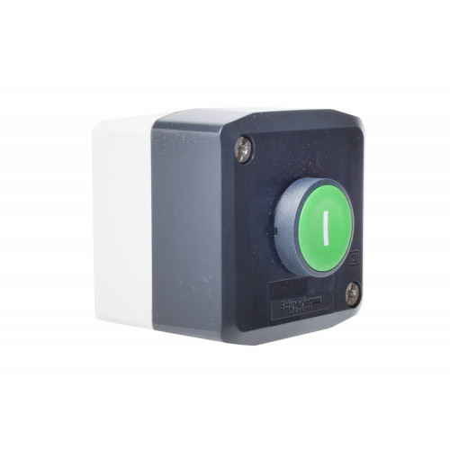 Control Station C/W, 1 x Spring Return Green Push Button Marked (I), 1 x N/O Contact
