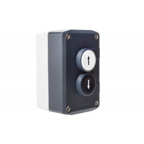 Control Station C/W, 1 x Spring Return Push Button Marked (UP Arrow), 1 x Spring Return Push Button Marked (Down Arrow), 2 x N/O Contact