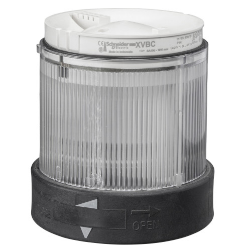 Schneider Electric, Illuminated LED Unit For 70mm Ø Modular Tower Lights, Clear, Steady On, 230V AC