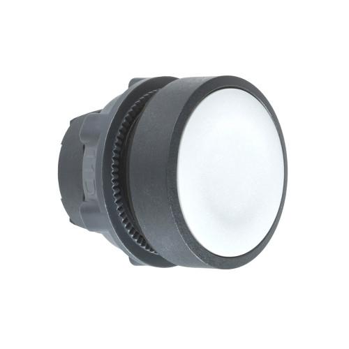 Schneider Electric, ZB5AA8, Harmony XB5, Flush Pushbutton Head, Grey, Black Plastic Bezel, 22mm Ø,