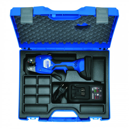 Electromechanical Crimping Tool, C/W Carry Case & Battey, 0.14 - 50mm