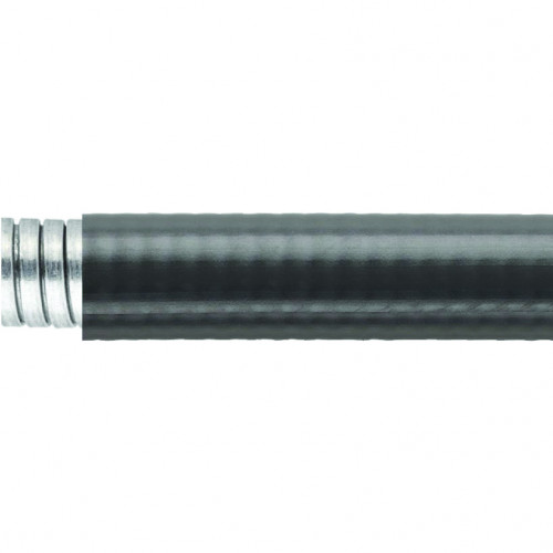 LTP Galvanised Steel, PVC Coated, Liquid Tight Conduit, Black, Outside Ø 59.7mm, Inside Ø 51.6mm