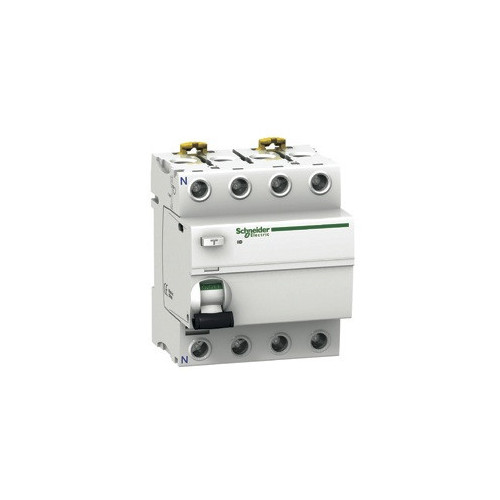 Schneider Electric, A9R21463, Acti9, ilD, A Type, RCCB, 4 Pole, 63Amp, 30mA Rated Residual Current Trip